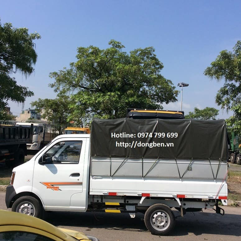 Xe tải Dongben DB1021/KM.02 thùng khung mui, tải trọng 810Kg